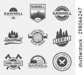Vector Set Of Sawmill Labels ...