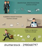 business infographic templates... | Shutterstock .eps vector #298068797
