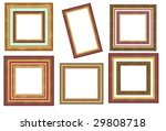 a picture frame on a white | Shutterstock . vector #29808718