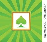 image of spades card symbol in...
