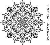 vector  circular pattern ... | Shutterstock .eps vector #298108673