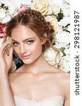 portrait of a beautiful fashion ... | Shutterstock . vector #298121987