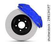 automobile braking system.... | Shutterstock .eps vector #298134197