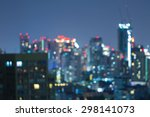 blurred photo bokeh of... | Shutterstock . vector #298141073