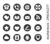 web communication icons ... | Shutterstock .eps vector #298141277