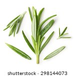 rosemary twig on a white... | Shutterstock . vector #298144073