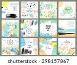 set of 12 creative universal... | Shutterstock .eps vector #298157867