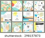 set of 12 creative universal... | Shutterstock .eps vector #298157873