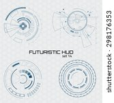set of sci fi futuristic user... | Shutterstock .eps vector #298176353