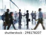 business people colleagues... | Shutterstock . vector #298178207