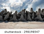 band concrete barriers coast... | Shutterstock . vector #298198547