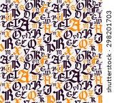 gothic seamless pattern....   Shutterstock .eps vector #298201703