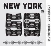new york typography  vector... | Shutterstock .eps vector #298206827