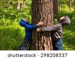 Children  Boys  Hands  Hugging...