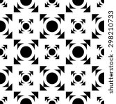 pattern with geometric shapes ... | Shutterstock .eps vector #298210733