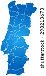 map of portugal   Shutterstock .eps vector #298213673