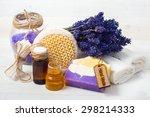 spa concept. lavender handmade...   Shutterstock . vector #298214333