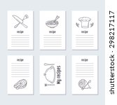 recipe cards collection with...   Shutterstock .eps vector #298217117