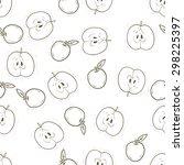 food pattern. apple pattern.... | Shutterstock .eps vector #298225397