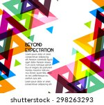 abstract geometric background... | Shutterstock .eps vector #298263293