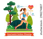 slimming woman running in the... | Shutterstock .eps vector #298274807