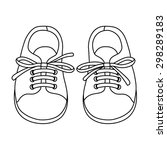 hand drawn pair of kids shoes....   Shutterstock .eps vector #298289183