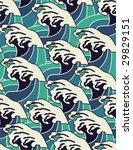 waves   seamless pattern   Shutterstock .eps vector #29829151