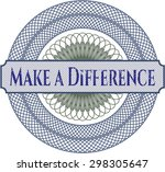 make a difference linear rosette | Shutterstock .eps vector #298305647