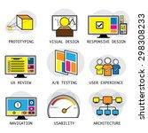 line vector design of user...
