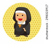 pastor and nun theme elements | Shutterstock .eps vector #298323917