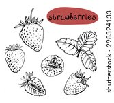 set of isolated sketchy style... | Shutterstock .eps vector #298324133
