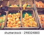 vegetables on stall in a... | Shutterstock . vector #298324883