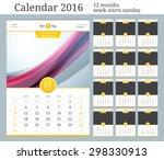 wall calendar 2016. vector... | Shutterstock .eps vector #298330913