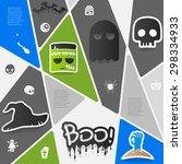 halloween sticker infographic | Shutterstock .eps vector #298334933