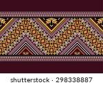 geometric ethnic pattern design ... | Shutterstock .eps vector #298338887