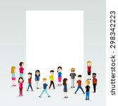 social groups of people gather... | Shutterstock .eps vector #298342223