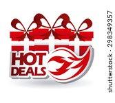 commerce tags design  vector... | Shutterstock .eps vector #298349357