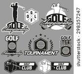 set of vintage golf labels ... | Shutterstock .eps vector #298357247