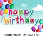 Happy Birthday Sign With...