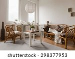 Wicker Sofa And Chairs In...
