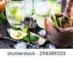 refreshing traditional cuban... | Shutterstock . vector #298389203