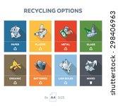 illustration of 8 recycling... | Shutterstock .eps vector #298406963