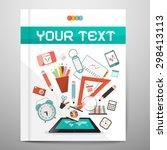 book   brochure   leaflet... | Shutterstock . vector #298413113