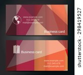 stylish business cards with... | Shutterstock .eps vector #298419527