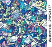 cartoon doodles hand drawn... | Shutterstock . vector #298426877