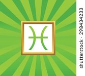 image of pisces zodiac symbol...
