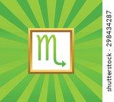 image of scorpio zodiac symbol...