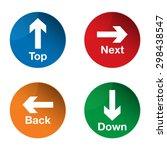 top icon. down icon. next icon. ... | Shutterstock .eps vector #298438547