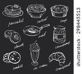 menu icons food hand drawn... | Shutterstock .eps vector #298445513