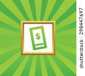 image of dollar symbol on phone ...
